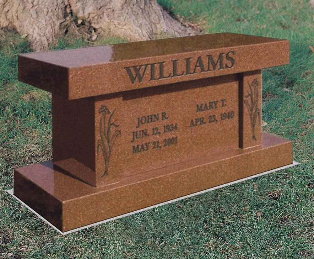 Williams Cremation Bench